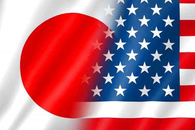 日本アメリカ国旗